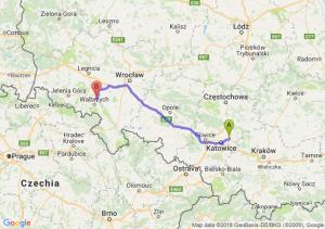 Trasa Dąbrowa Górnicza - Świebodzice