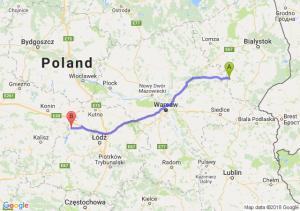 Trasa Ciechanowiec - Uniejów