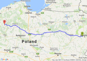 Choroszcz (podlaskie) - Szczecinek (zachodniopomorskie)