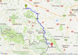 Złotoryja (dolnośląskie) - Nowa Ruda (dolnośląskie)