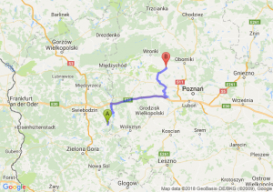 Trasa Babimost - Szamotuły