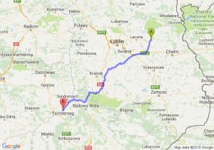 Trasa Cyców - Tarnobrzeg