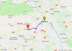 Trasa Warszawa - Pruszków
