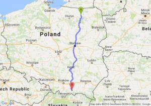 Ryn (warmińsko-mazurskie) - Nowy Sącz (małopolskie)