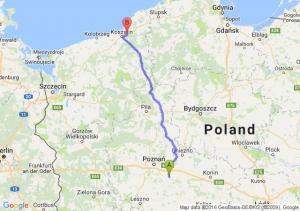 Środa Wielkopolska (wielkopolskie) - Sianów (zachodniopomorskie)