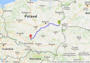 Trasa Biała Podlaska - Lubliniec