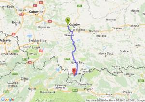 Trasa Balice - Zakopane