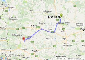 Trasa Lipno - Głogów