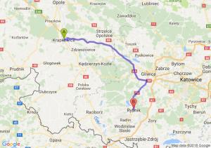 Trasa Krapkowice - Rybnik