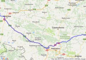 Jędrzejów (świętokrzyskie) - Brzeg Dolny (dolnośląskie)