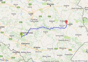 Trasa Lubliniec - Sadurki