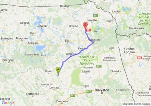 Trasa Stawiski - Raczki