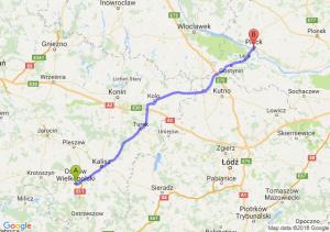Trasa Ostrów Wielkopolski - Płock