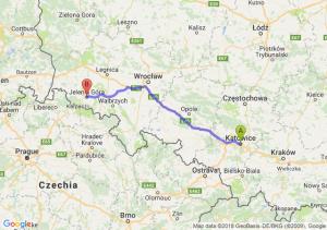 Trasa Katowice - Jelenia Góra