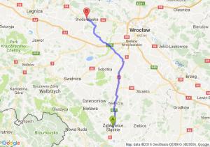 Ząbkowice Śląskie (dolnośląskie) - Środa Śląska (dolnośląskie)