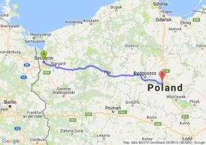Szczecin (zachodniopomorskie) - Toruń (kujawsko-pomorskie)
