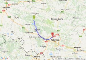 Trasa Bierdzany - Piekary Śląskie