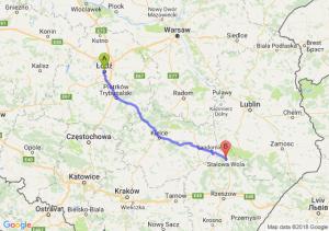 Trasa Łódź - Stalowa Wola