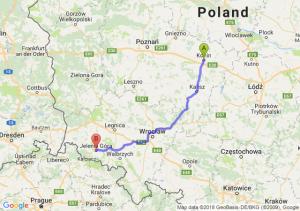 Trasa Konin - Jelenia Góra