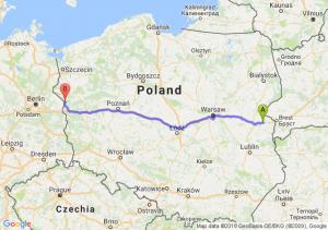 Trasa Biała Podlaska - Kostrzyn