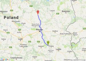 Trasa Bąkowiec - Przasnysz