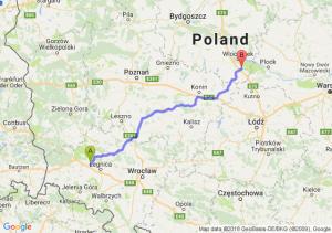 Trasa Chojnów - Kowal