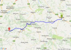 Lublin (lubelskie) - Włoszczowa (świętokrzyskie)
