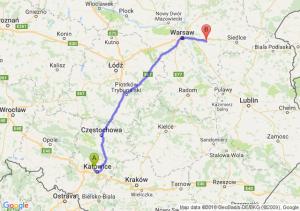 Trasa Chorzów - Mińsk Mazowiecki
