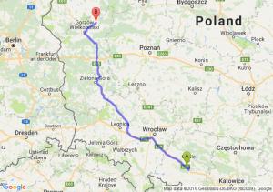 Prószków (opolskie) - Strzelce Krajeńskie (lubuskie)