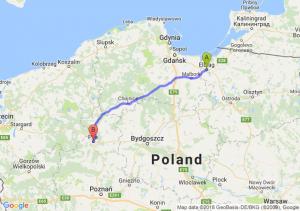 Trasa Elbląg - Piła