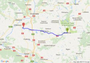 Trasa Brodnica - Stolno
