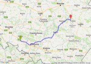 Trasa Dąbrówka Górna - Zajezierze