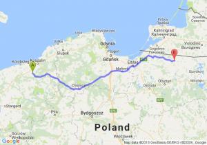 Trasa Białogard - Bartoszyce