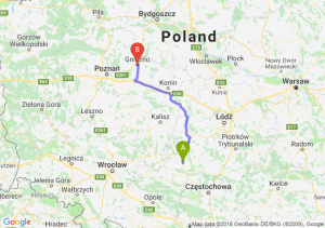 Trasa Wieluń - Gniezno