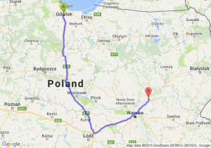Pruszcz Gdański (pomorskie) - Wyszków (mazowieckie)