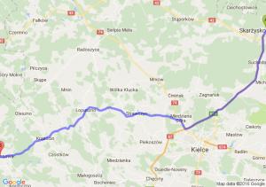 Skarżysko-Kamienna (świętokrzyskie) - Włoszczowa (świętokrzyskie)
