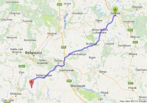 Ostróda (warmińsko-mazurskie) - Mogilno (kujawsko-pomorskie)