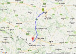 Trasa Aleksandrów Łódzki - Nędza