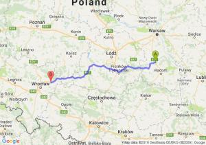 Trasa Białobrzegi - Oleśnica