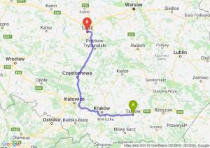 Trasa Tarnów - Łódź