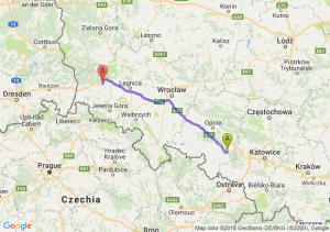 Trasa Kędzierzyn-Koźle - Bolesławiec