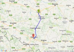 Trasa Łódź - Chorzów