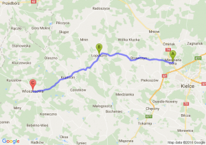 Miedziana Góra (świętokrzyskie) - Łopuszno - Włoszczowa (świętokrzyskie)