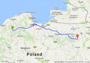 Miastko (pomorskie) - Biała Piska (warmińsko-mazurskie)