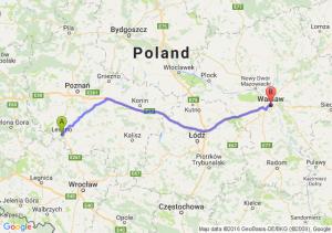 Leszno (wielkopolskie) - Warszawa (mazowieckie)