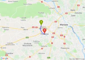 Trasa Ożarów Mazowiecki - Pruszków