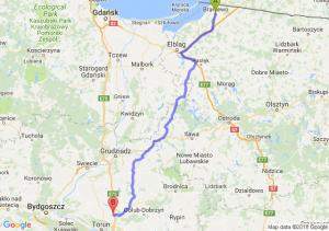Trasa Braniewo - Turzno