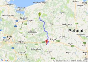 Drawsko Pomorskie (zachodniopomorskie) - Grodzisk Wielkopolski (wielkopolskie)