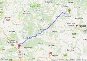 Sępólno Krajeńskie (kujawsko-pomorskie) - Skwierzyna (lubuskie)