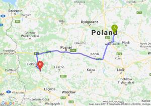 Trasa Lipno - Nowa Sól